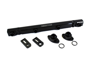 Aeroflow Billet Fuel Rail - 4G63 EVO 4-9 (black)