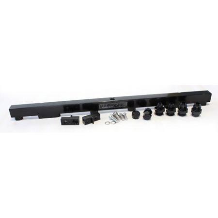 Aeroflow Billet Fuel Rail - RB26 (black) - AF64-2011BLK