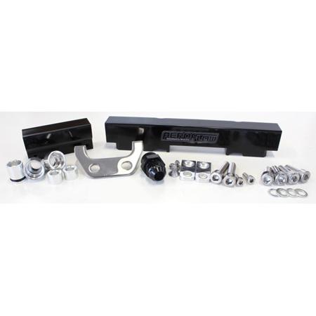 Aeroflow Billet Fuel Rail - S4-5 RX7 (black) - AF64-2013BLK