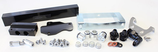 Aeroflow Billet Fuel Rail - S6 RX7 (black)