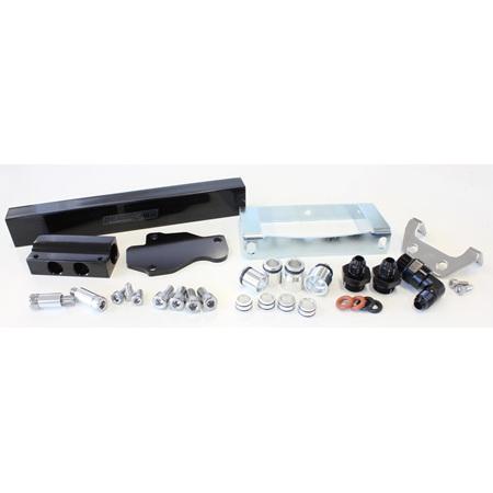 Aeroflow Billet Fuel Rail - S6 RX7 (black) - AF64-2104BLK