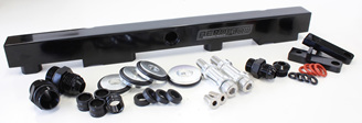 Aeroflow Billet Fuel Rail - SR20 S13 (black)