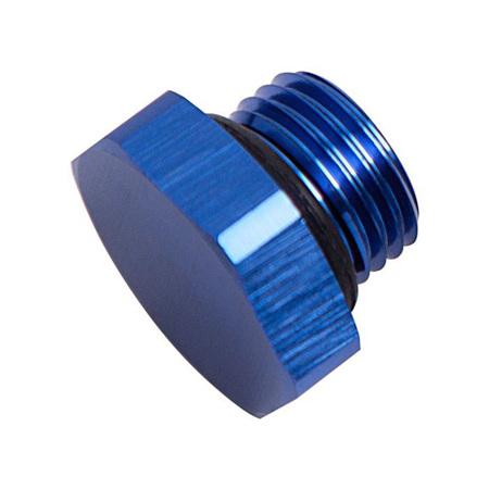 Aeroflow ORB Port Plug -10AN Blue