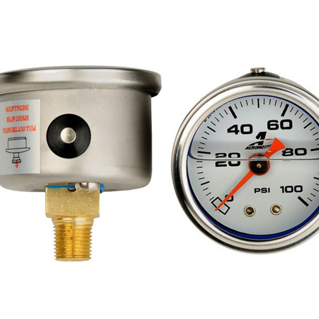 Aeromotive 0-100 psi Fuel Pressure gauge