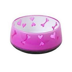 AFP Dog Bowl Pink Bones