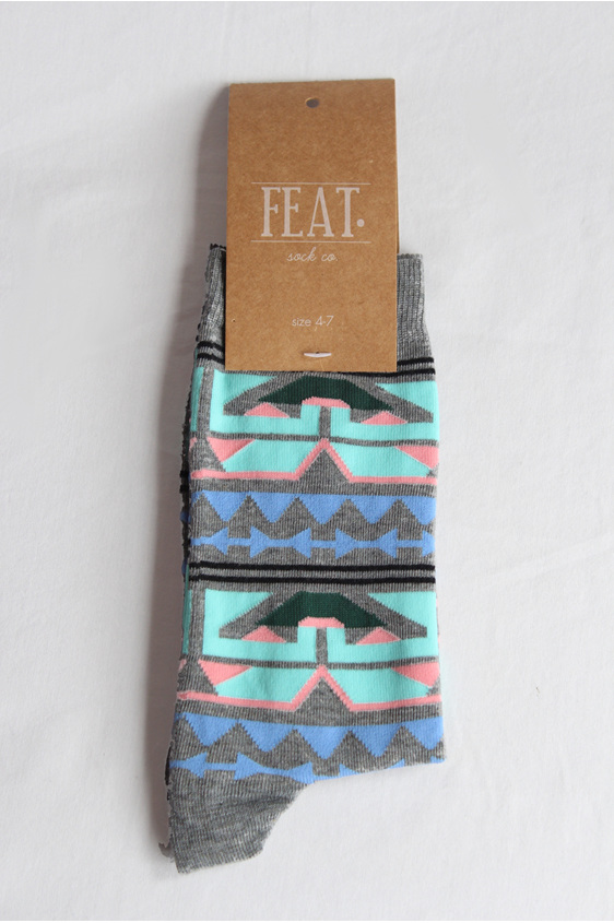 african design. funky socks. cool socks. bright. geometric. cotton