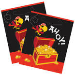 Ahoy Pirate Fun Loot Bags x 8