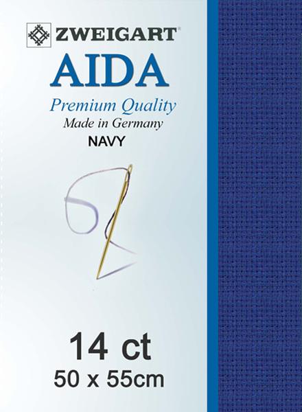Aida 14ct Navy