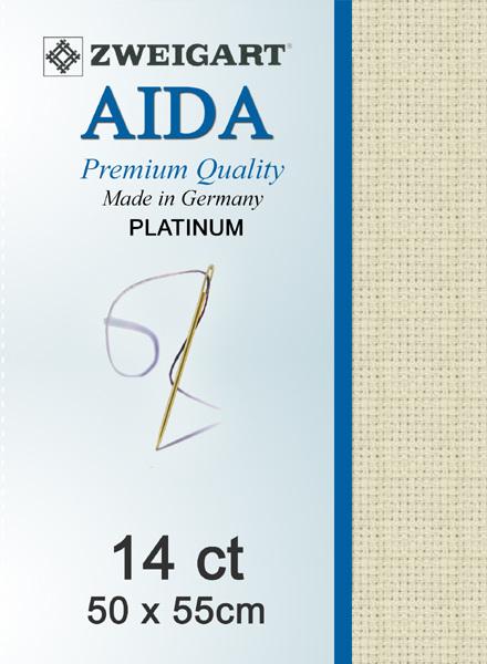 Aida 14ct Platinum