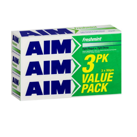 AIM TOOTHPASTE FRESH MINT 90G 3 PACK VALUE