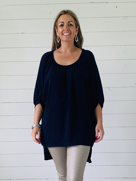 Aimee Top - Navy