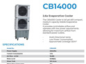 Air Cooler - Water Evaporator 120m2
