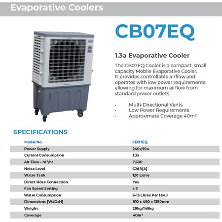 Air Cooler - Water Evaporator 40-60m2