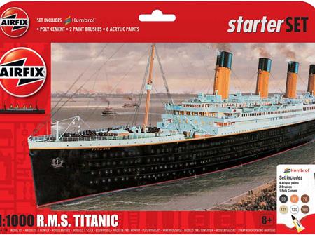 Airfix 1/1000 RMS Titanic - Starter Set (A55314)