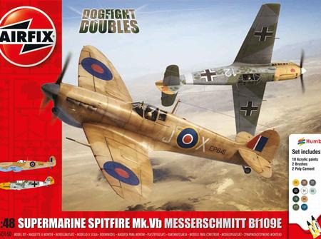 Airfix 1/48 Dogfight Doubles Supermarine Spitfire Mk.Vb & Messerschmitt Bf109E (A50160)