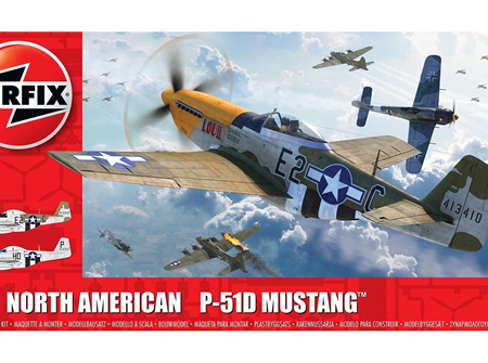 Airfix 1/48 North American P51-D Mustang (Filletless Tails) (A05138)