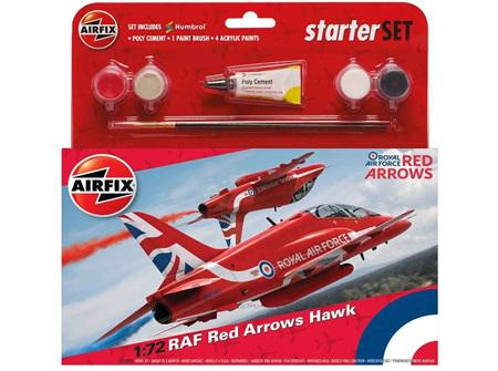 Airfix 1/72 RAF Red Arrows Hawk - Starter Set (A55202C)