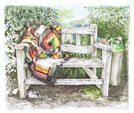 'airing the quilt' art print