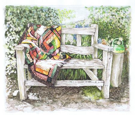'airing the quilt' art print