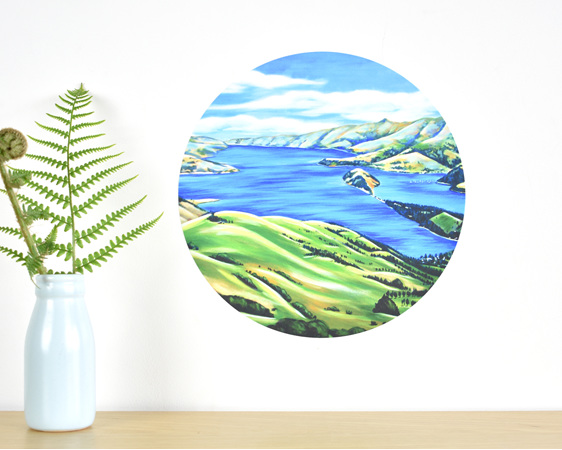 Akaroa Harbour wall decal
