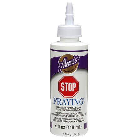 Aleene's Stop Fraying Glue 4oz Bottle