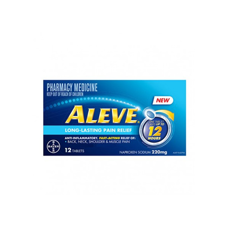 Aleve 12-Hour Long-Lasting Pain Relief 220mg 12 Tablets