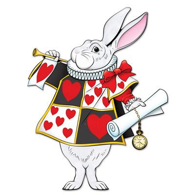 Alice in Wonderland White Rabbit Cutout