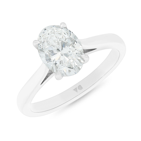 Alice: Oval Cut Diamond Solitaire Ring