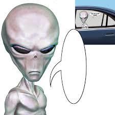 Alien Car Cling