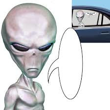 Alien Car Cling