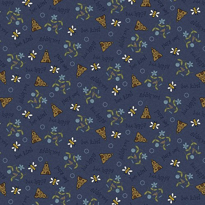 All About the Bees Blue Bee Scatter 2422-77