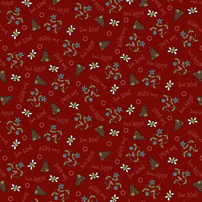 All About the Bees Red Bee Scatter 2422-88
