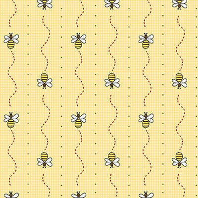 All About the Bees Yellow Bee Mini Stripe 2423-44