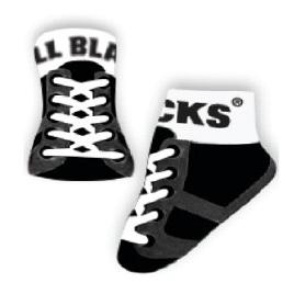 All Blacks Baby Socks