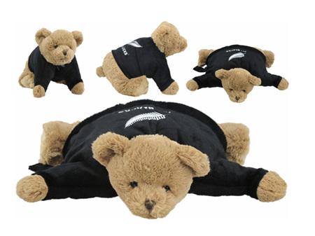 All Blacks Convertible Bear Cushion