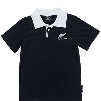 All Blacks White Collar Jersey
