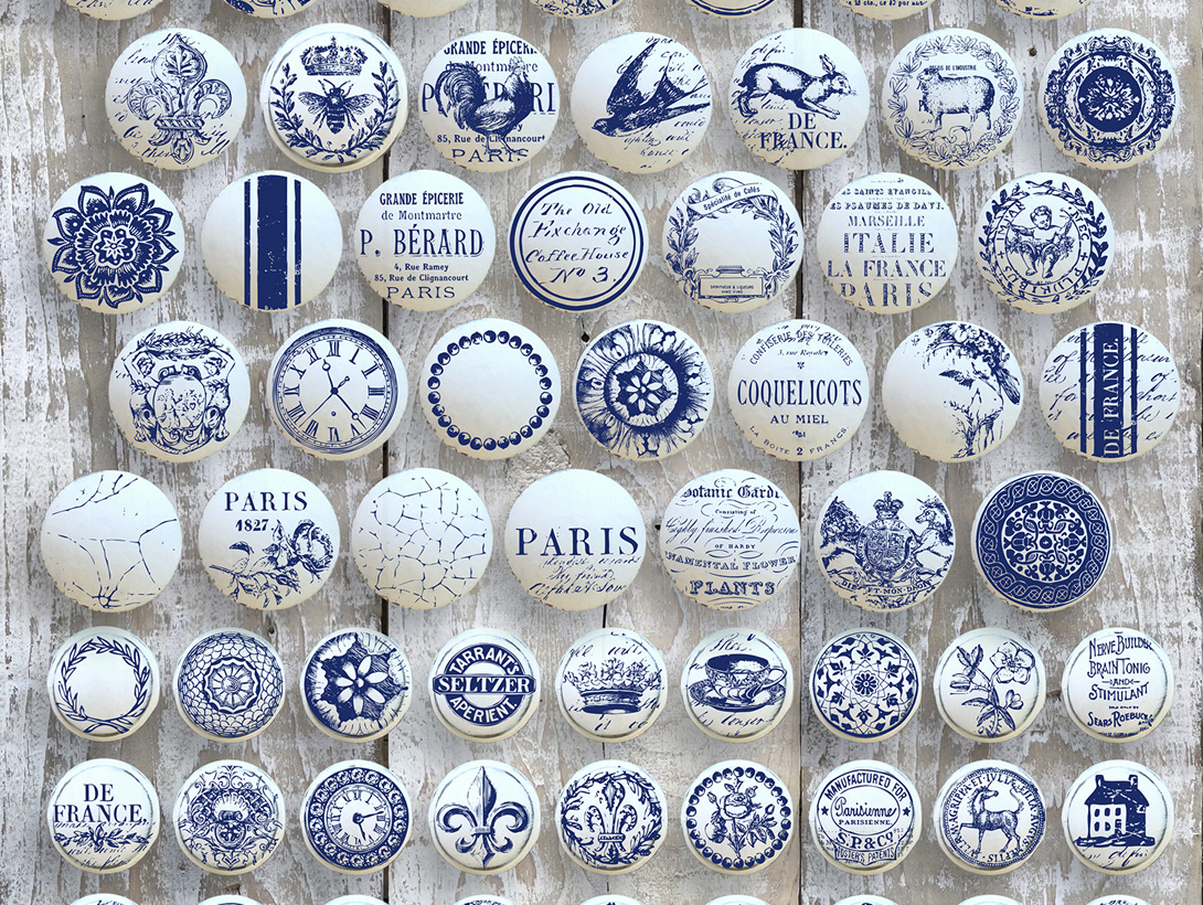 Iron Orchid Design Decor Stamp 'Knob Toppers'