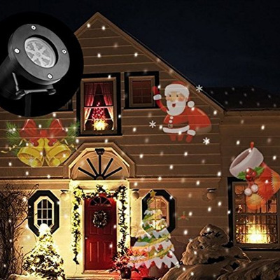 All Year Round Moving Projector Light 12 Patterns Plug-in Card Lamp