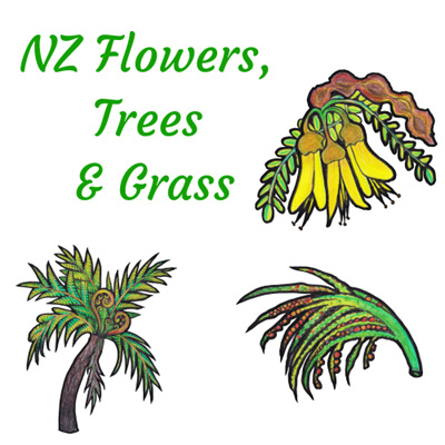 All Zealand Flowers & Grasses