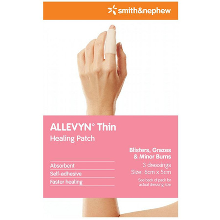 ALLEVYN THIN SELF ADHESIVE DRESSING 6X5CM 3 PACK