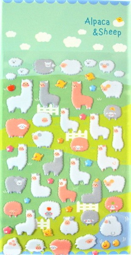 Alpaca and Sheep Stickers CLEARANCE