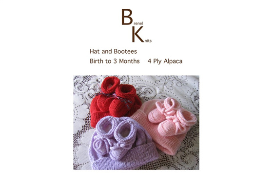 Alpaca Knitted Hat and Bootees