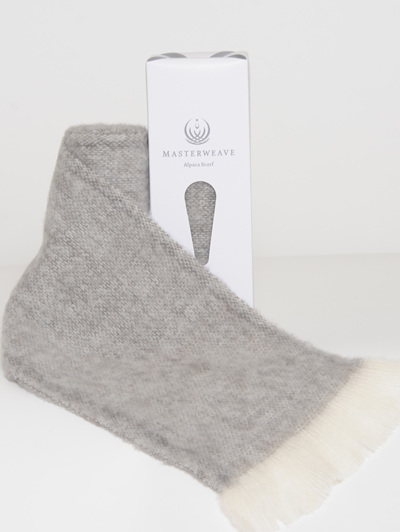 Alpaca Scarf - Granite