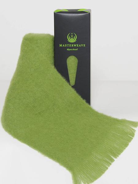 Alpaca Scarf - Lime