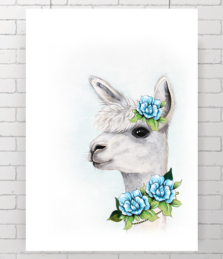 Alpaca - the original painting