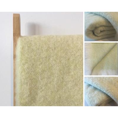 Alpaca Throw Blanket  - Avocado/Cream