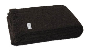Alpaca Throw - Peat (Boucle)
