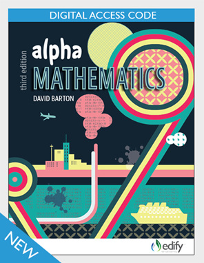 Alpha Mathematics eBook - author David Barton - available from Edify