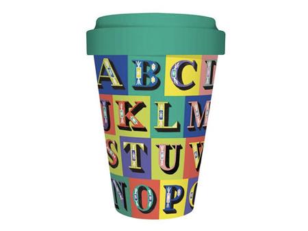 Alphabet Bamboo Travel Mug