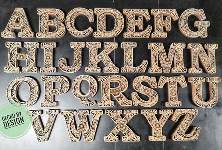 Alphabet Mandala Individual Letters